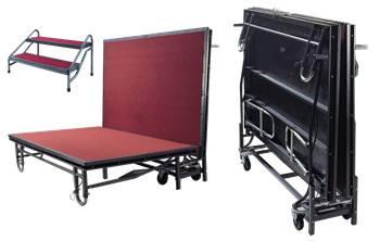 Portable Folding Wheel Stage