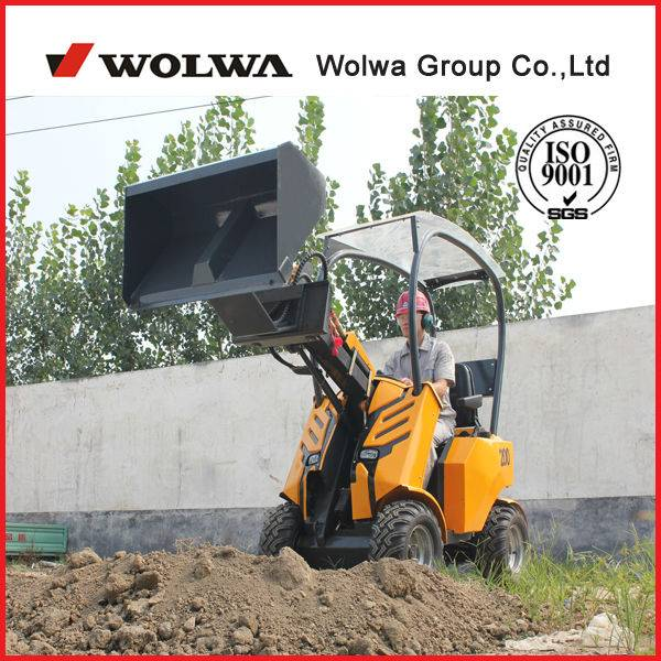 GN200 mini wheel loader,multi-function loader with skid steer