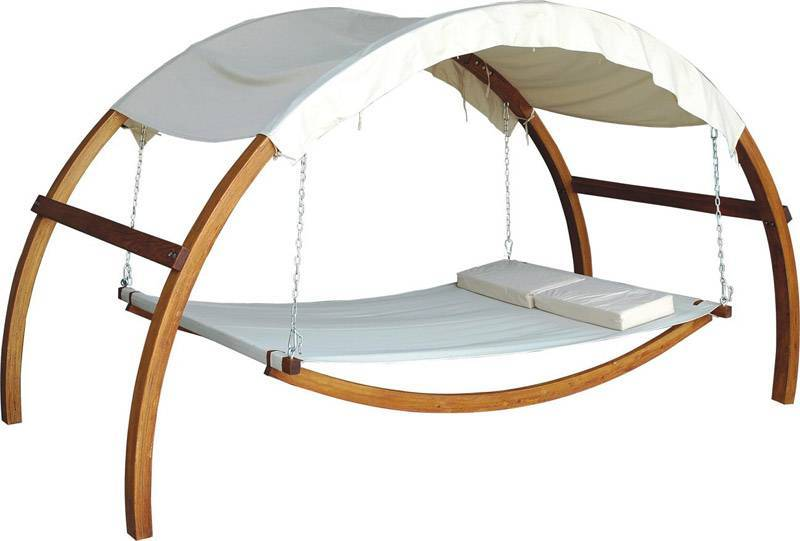 sell swing bed,wooden swing bed,garden furniture