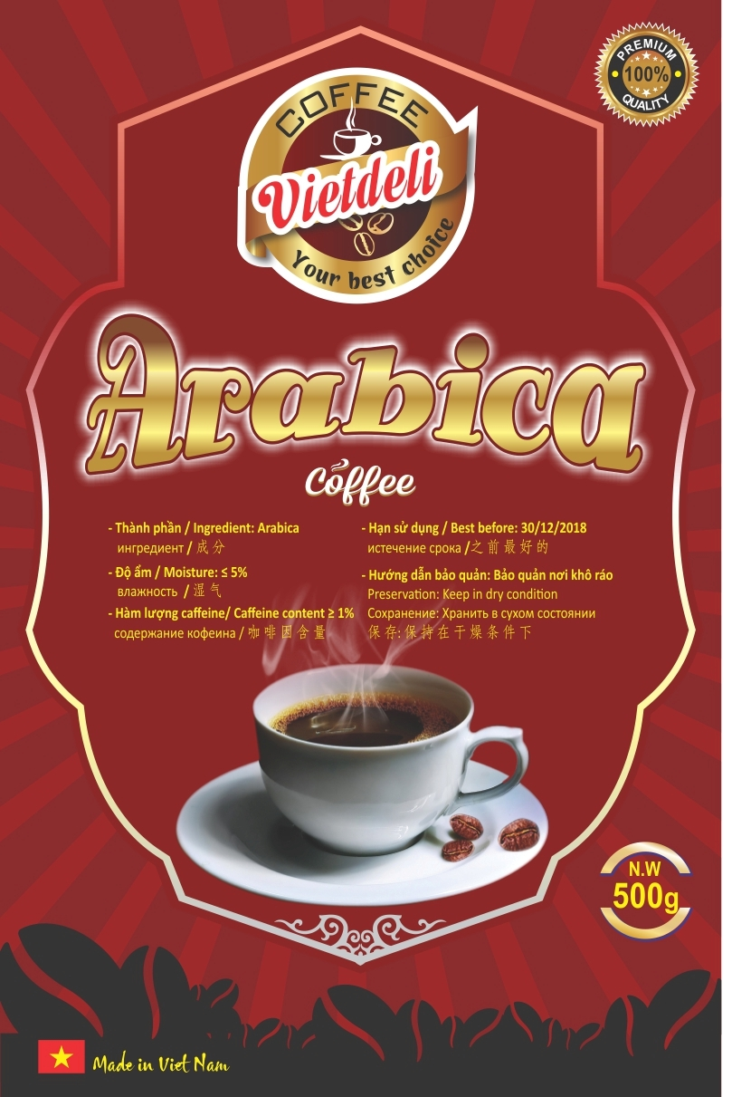 Sell ARABICA ROASTED COFFEE BEANS - VIETDELI
