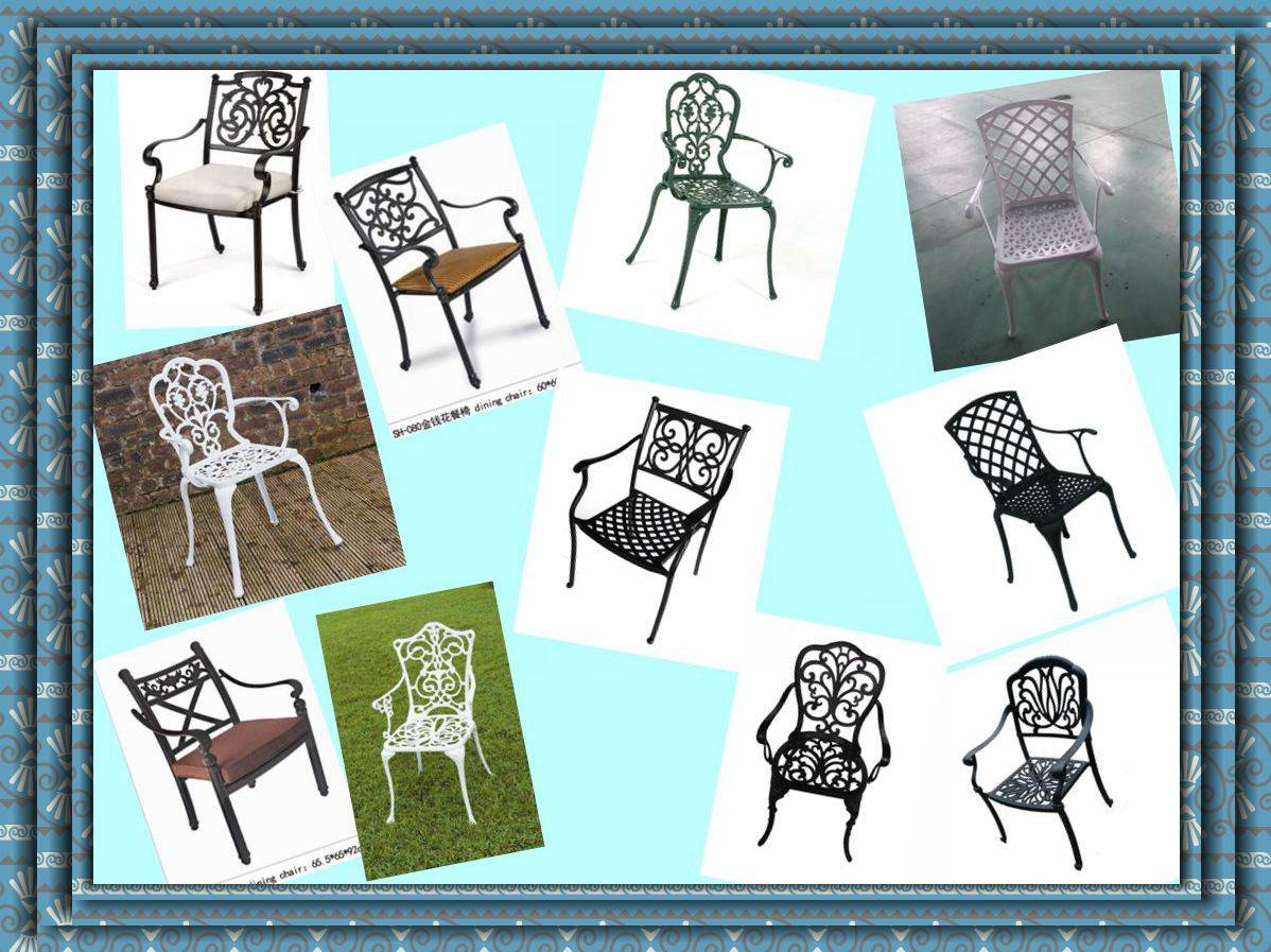 outdoor wholesale cast aluminum garden patio chair