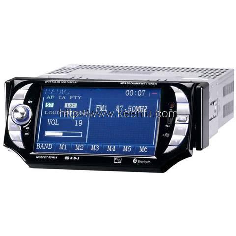 1 Din 5.0 TFT Touch Screen Car DVD Player, built in GPS & BT & TV & iPod & AM/FM/RDS
