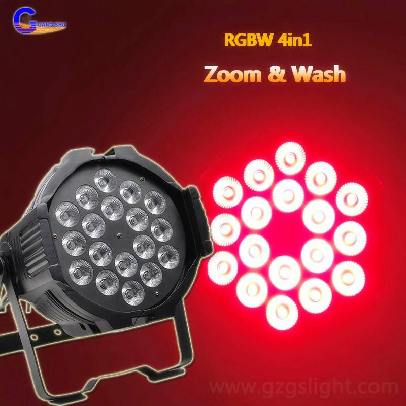Professional 18pcs10W RGBW4in1 Zoom LED Stage PAR Can Light for Wedding&Party (P18-4)
