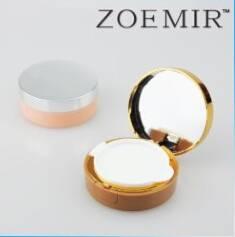 Latset design round shape air cushion BB cream case cosmetic powder container