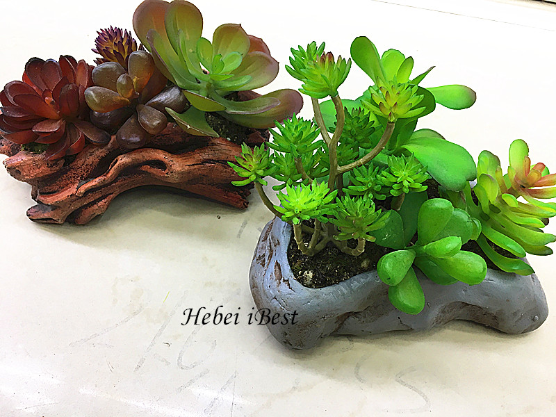 Sell Imitation Stone Potted Artifical Succulents Plants