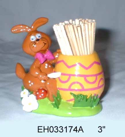 Polyresin easter Toothpick holder