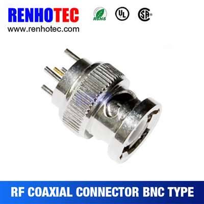 Waterproof Straight BNC PLUG Connector For PCB Mount