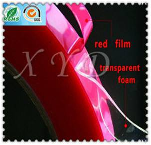 Red Film Clear/Transparent Acrylic Foam Tape