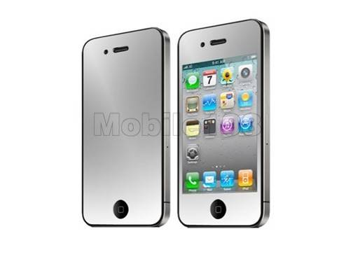 Silver Circle Style Hard Plastic Cover for iPhone 4/4S Red