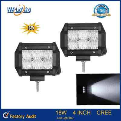 5D Led Light Bar 4 Inch 18W Cree with Flood Spot Beam