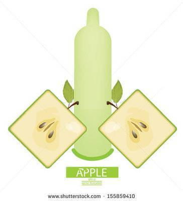 CE/ ISO approved apple flavored condoms from manufacture