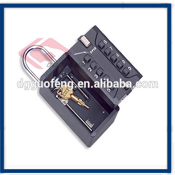 Digital 10 Push Button Lock Boxes / Combination Door Knob Lock In Black