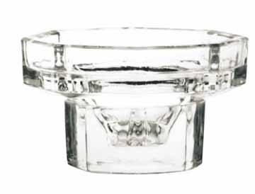 Glass candle holder, candle glass, glass candle cup