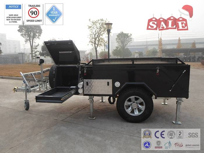 hard floor camping trailer with mesh window screen to prevent from the sandfly & midge