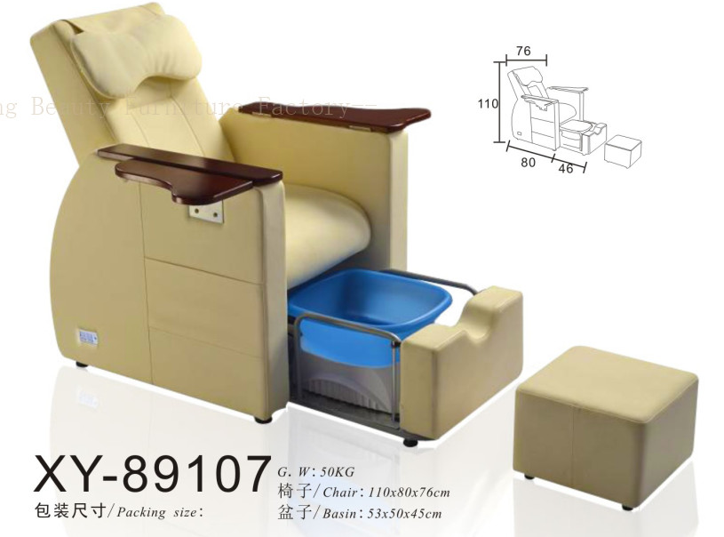 Salon Spa Pedicure Chair hiddenable sink XY-89107