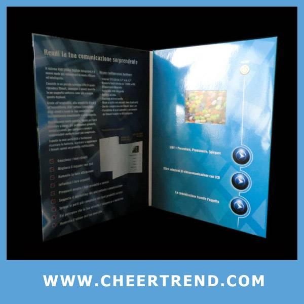 video in print greeting card