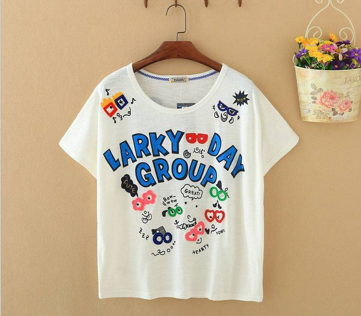 2015 New Lady Larky Day Short SleeveT-Shirt
