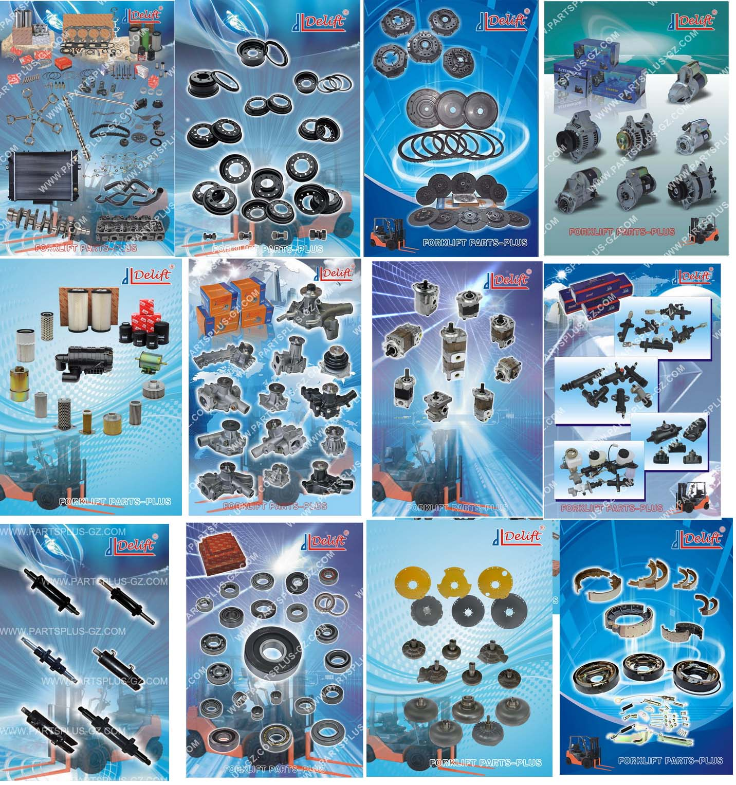 ALL KINDS OF FORKLIFT PARTS STOCK TO SELL