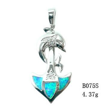 Fashion Jewelry Opal Set With Opal Inlayed-B075S