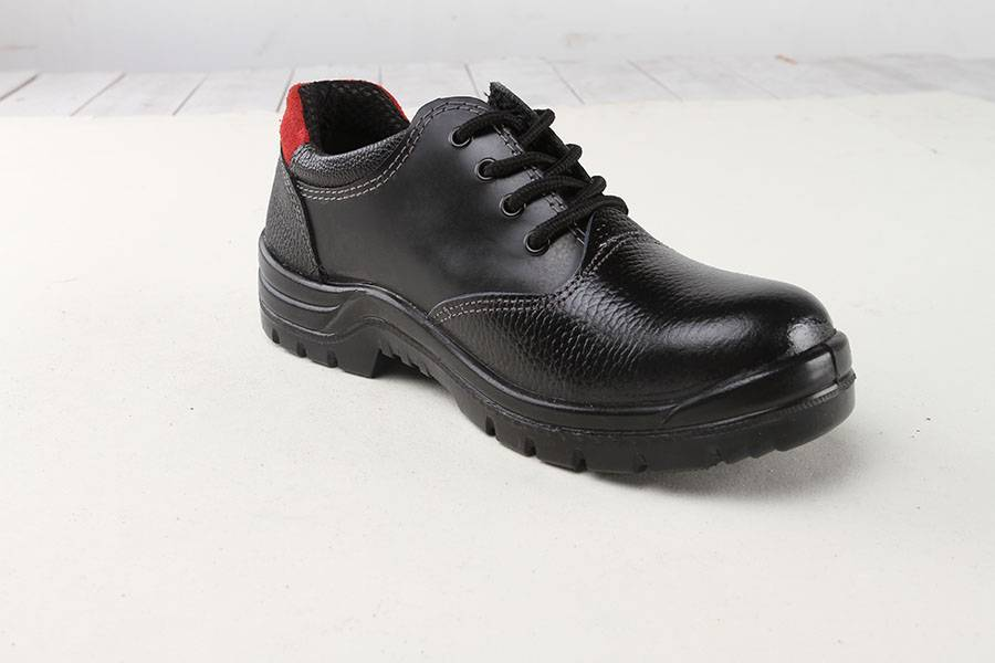 Genuine Leather Safety Shoes Steel Toe Oil And Chemical Resistant