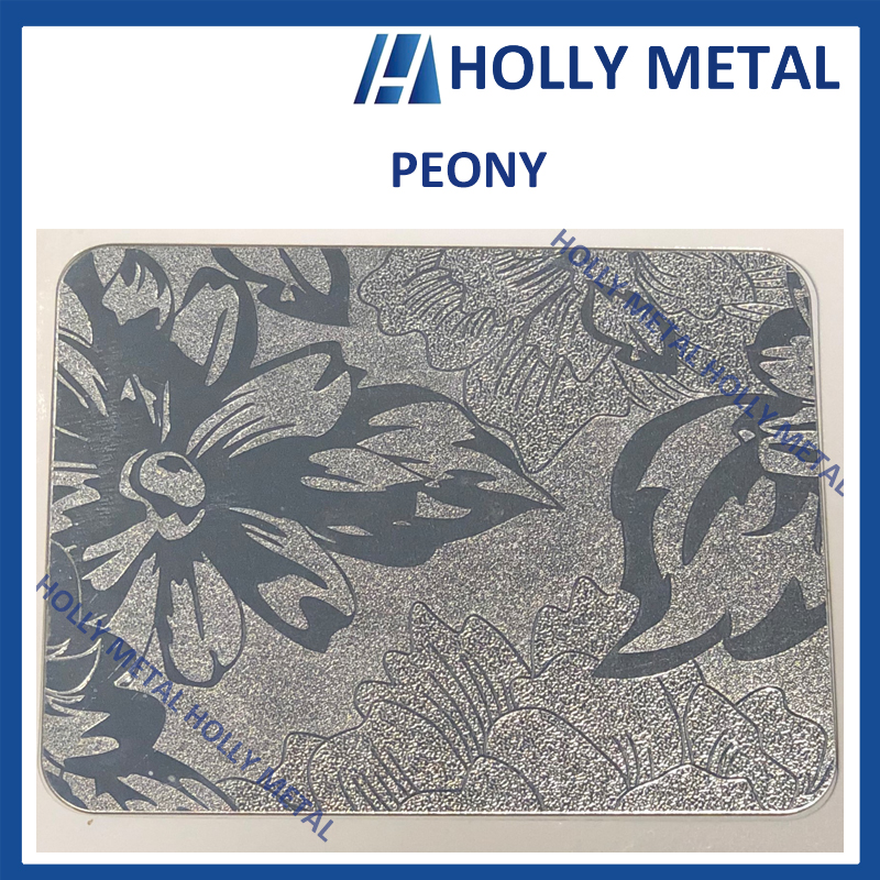 Stainless Steel Pattern Embossed Etched Decoration Sheet (Free Grain Bronze)