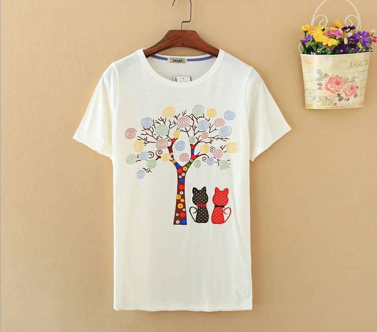 2015 New Lady Lollipop Tree Short SleeveT-Shirt