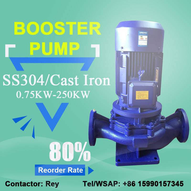 1.5hp water booster pump price for pipeline 1.5 inch inline water booster pump in Phillipine