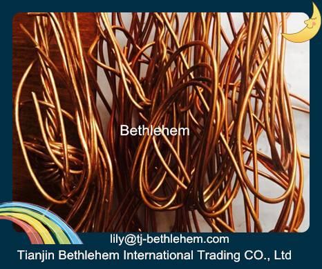 90-99.99% copper wire scrap