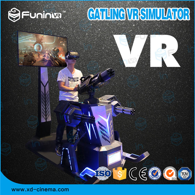 Selling 2018 hot selling Gatling VR Simulator game machine with headset