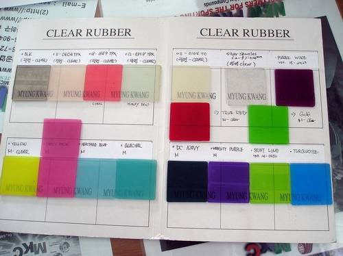 Clear Rubber(transparent rubber any color)