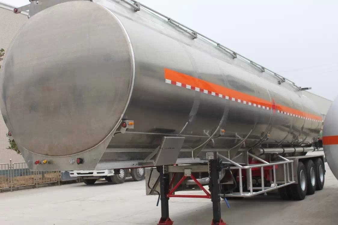 Aluminum Fuel Tank Semi-Trailer Tri-Axles Fuel Tanker Trailer