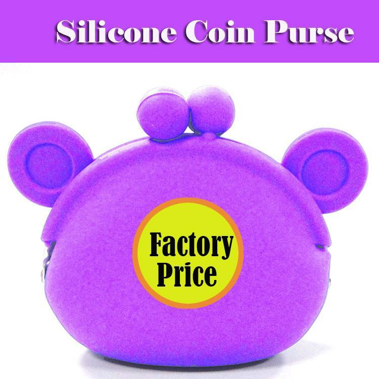Factory Wholesale Funny Monkey Silicone Coin Purse 5 Colors