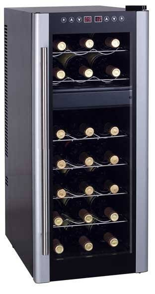 Thermoelectric wine cooler KWD-21T silver door