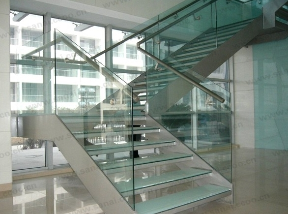 the CE SGCC certification of 3-15mm toughened glass railing,canoyp,skylight,Balustrades