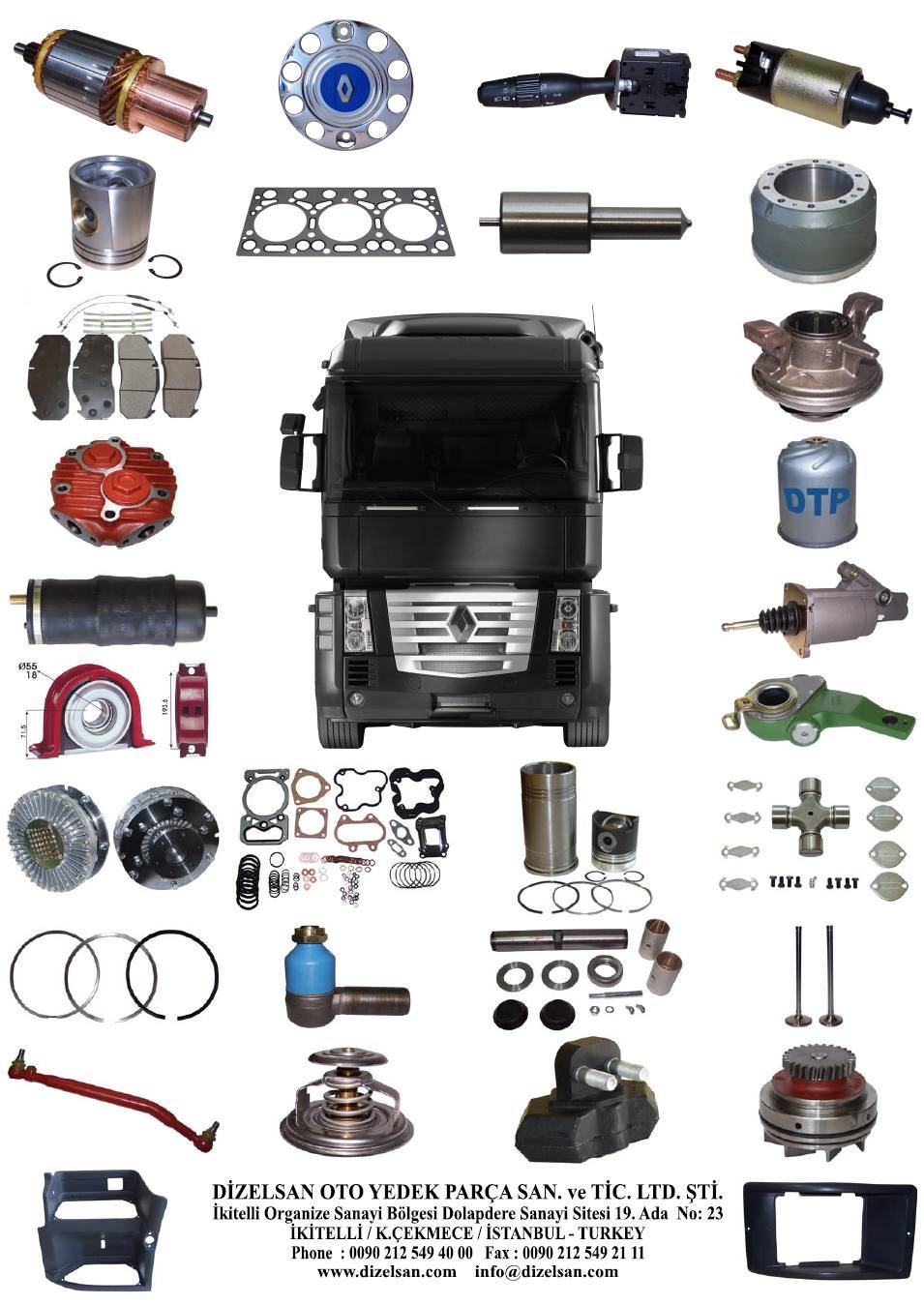 Where to buy spare parts for truck 68
