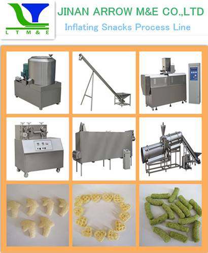 Inflating Snacks Making Machine