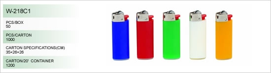 Disposable gas lighters