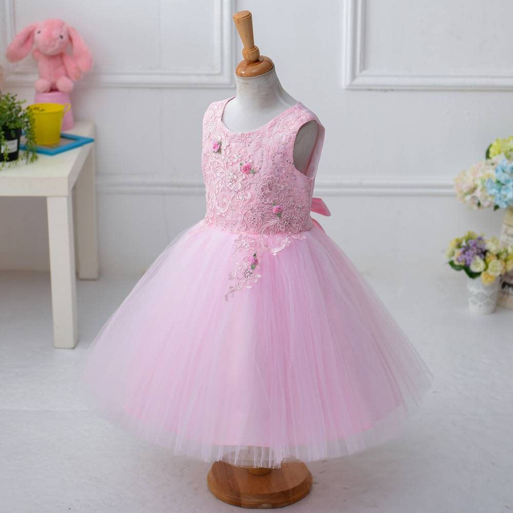 whosale hot selling flower girl dress