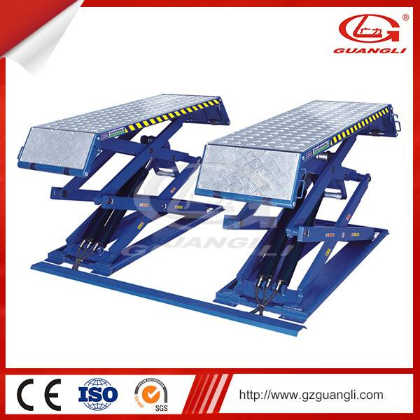 CE Certification and Four Cylinders Hydraulic Lift Type scissor car lift