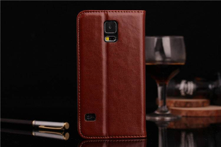 samsung galaxy s5 i9600 wallet leather cases