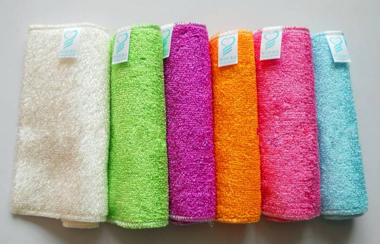 Kitchen cleaning cloth,bamboo dish cloth