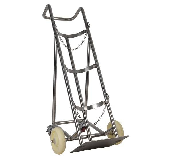 Four wheels cylinder carts with safety fixed chain RCS-SOX01