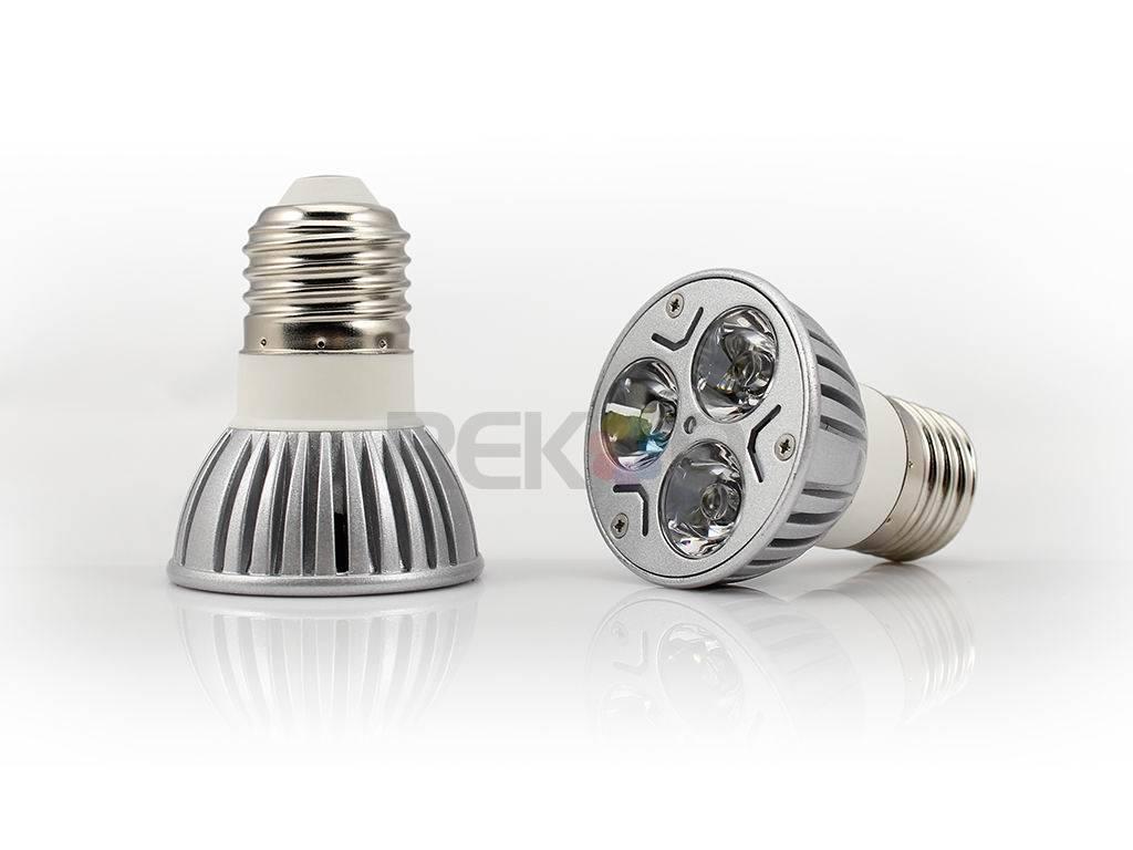 E27 3×1W High power led light