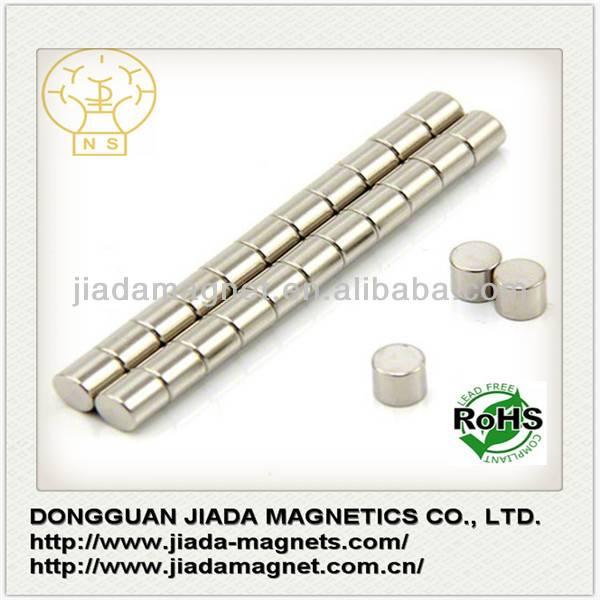 Super Strong N42SH Ni coating Neodymium Cylinder Magnet