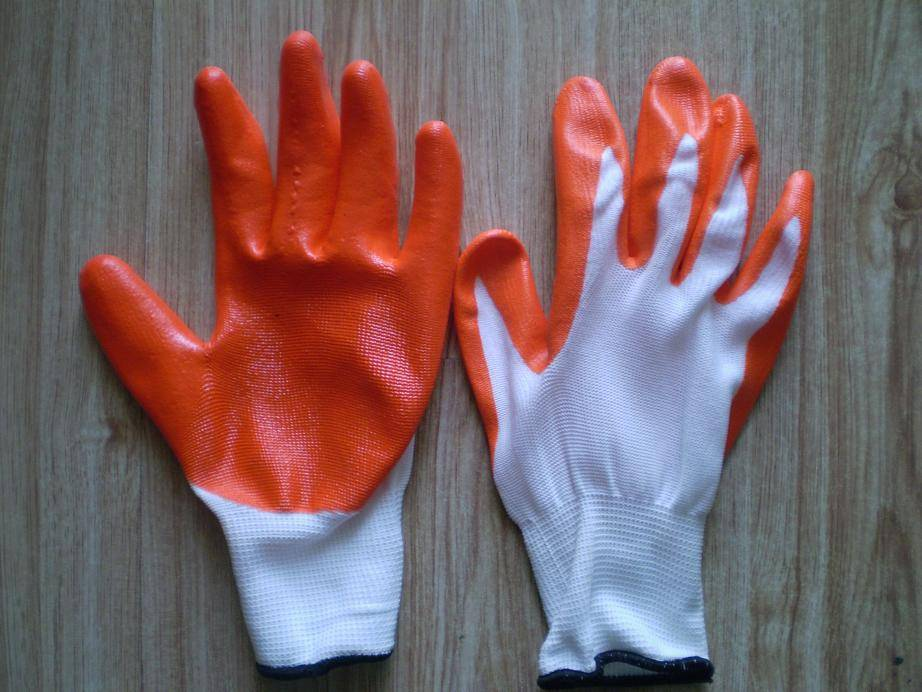 cheap nitrile coated work gloves from china supplier