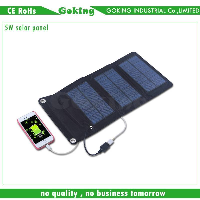 5W Portable Folding Solar Panel for Mobile Phones