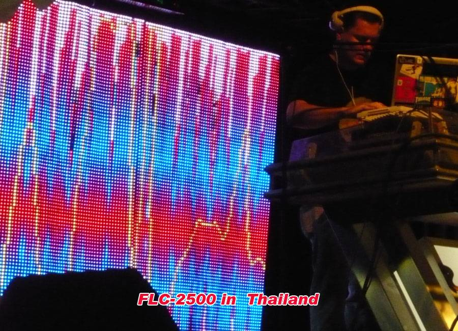 Rental Flexible LED Dsiplay P20mm for live show in Thailand