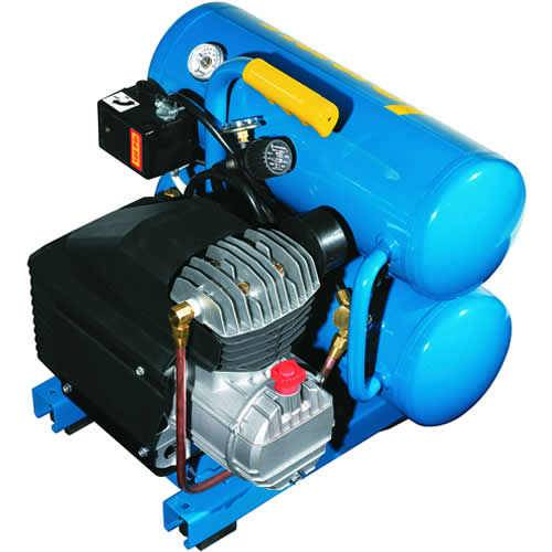 Jenny 2-HP 4-Gallon Contractor Twin Stack Air Compressor