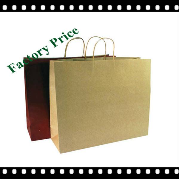 Custom Brown Kraft Paper Bag With Logo Print