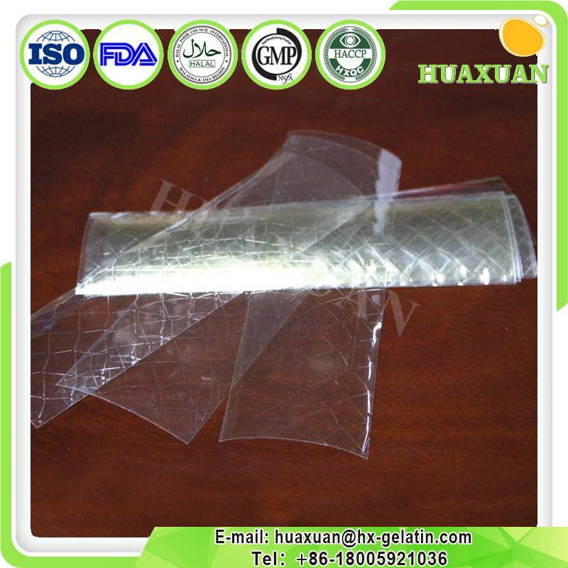 Cheese use leaf gelatin/gelatin sheet